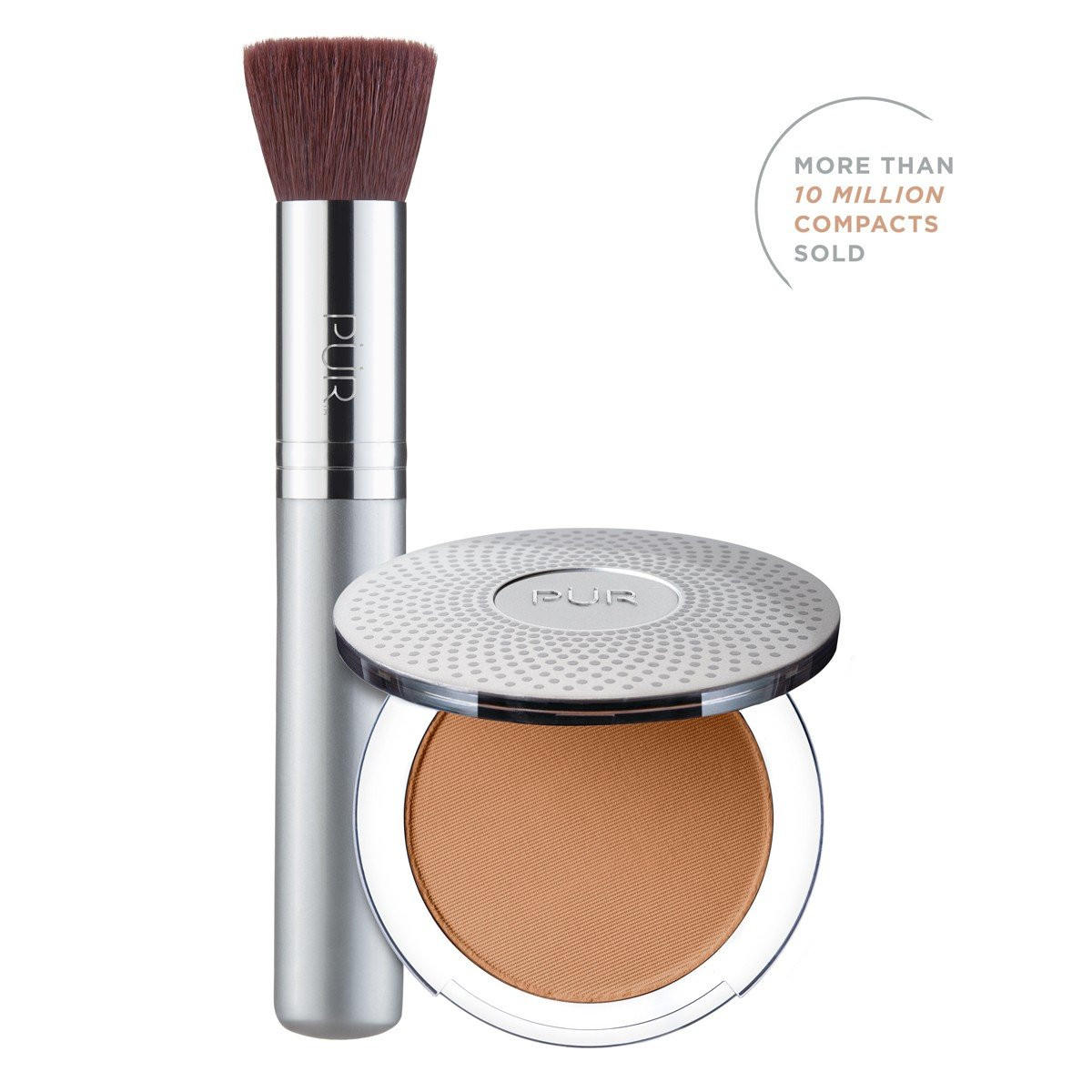 TRY PÜR! 4-in-1 Pressed Mineral Makeup and Brush Kit in Deep
