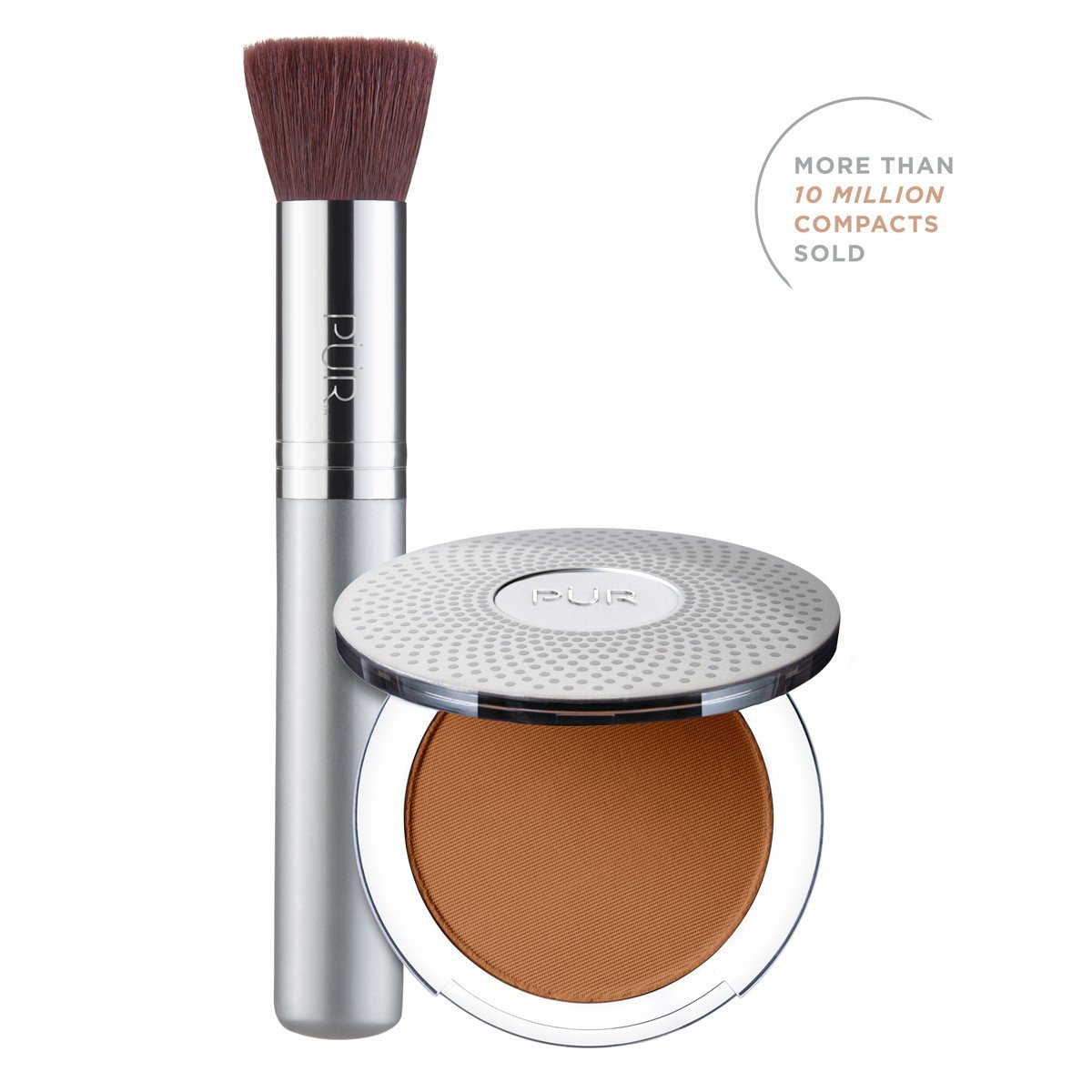 TRY PÜR! 4-in-1 Pressed Mineral Makeup and Brush Kit in Deeper