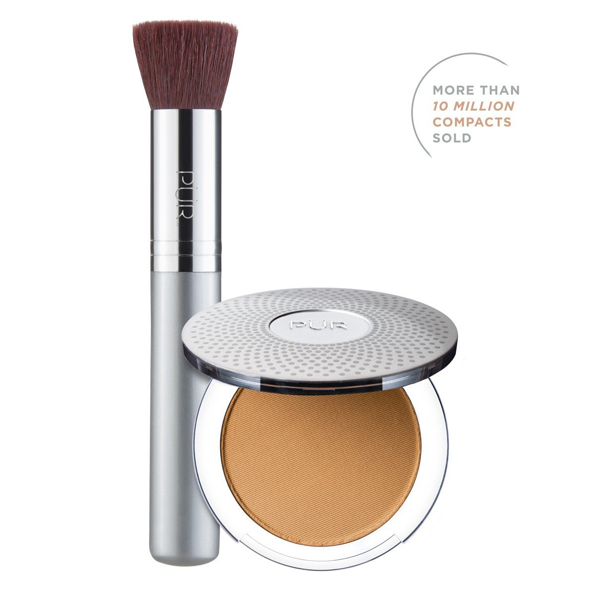 TRY PÜR! 4-in-1 Pressed Mineral Makeup and Brush Kit in Golden Dark