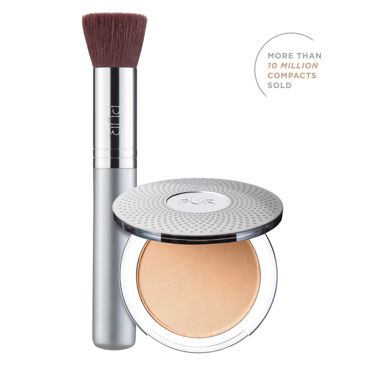 TRY PÜR! 4-in-1 Pressed Mineral Makeup and Brush Kit in Golden Medium