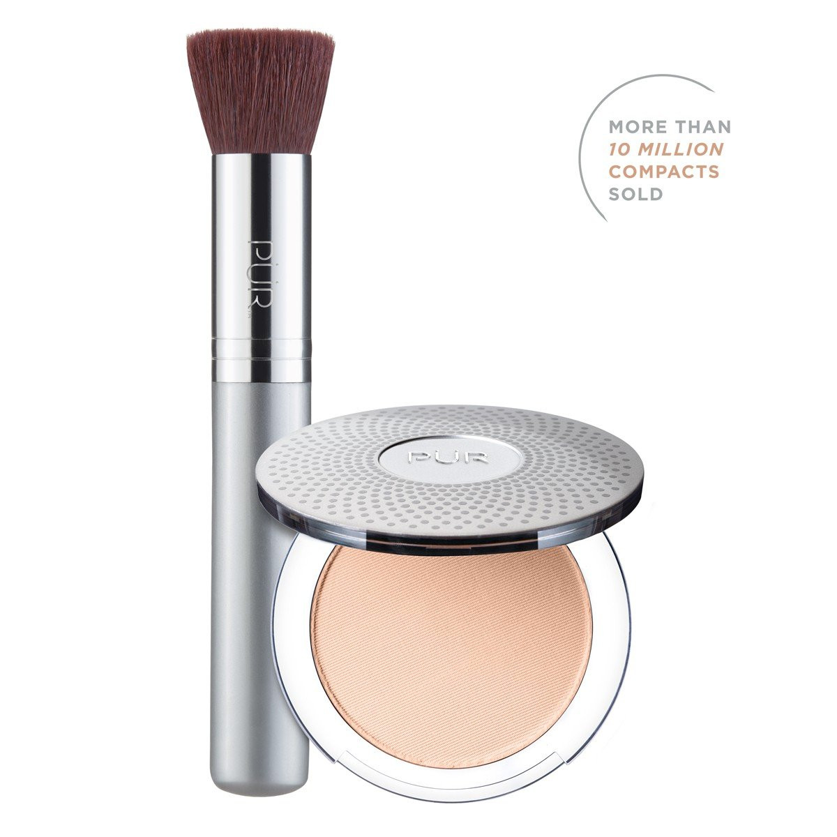 TRY PÜR! 4-in-1 Pressed Mineral Makeup and Brush Kit in Light