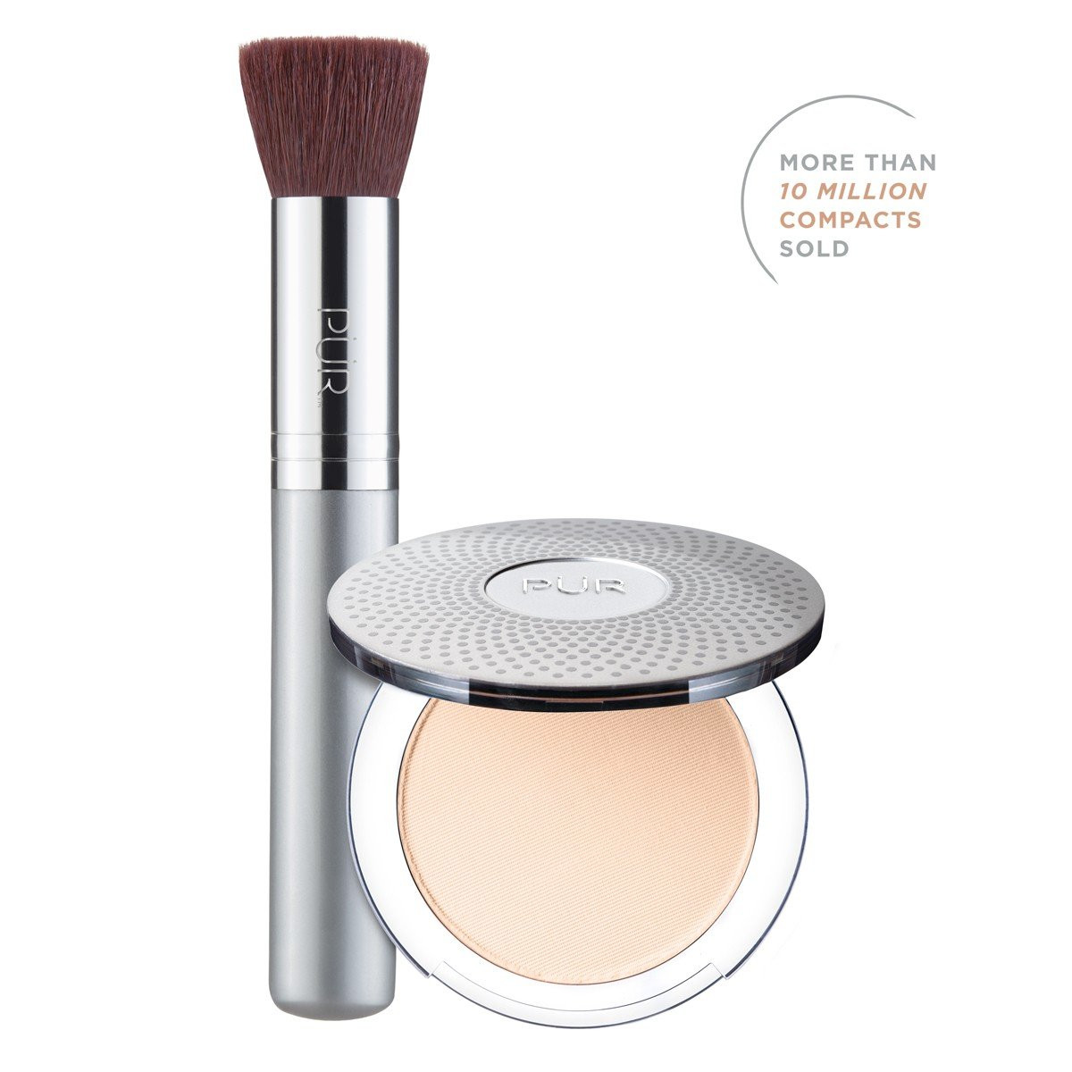 TRY PÜR! 4-in-1 Pressed Mineral Makeup and Brush Kit in Porcelain