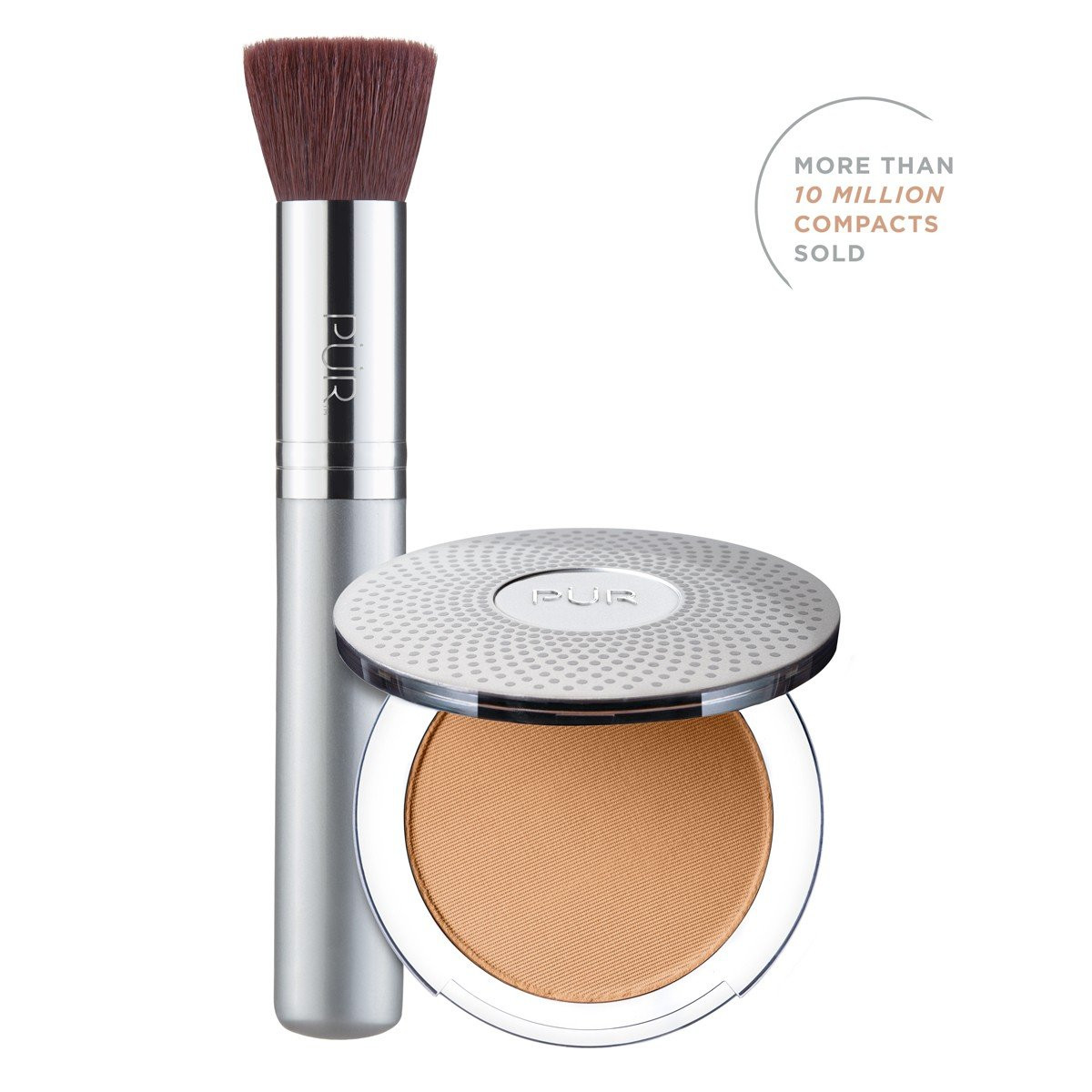 TRY PÜR! 4-in-1 Pressed Mineral Makeup and Brush Kit in Tan