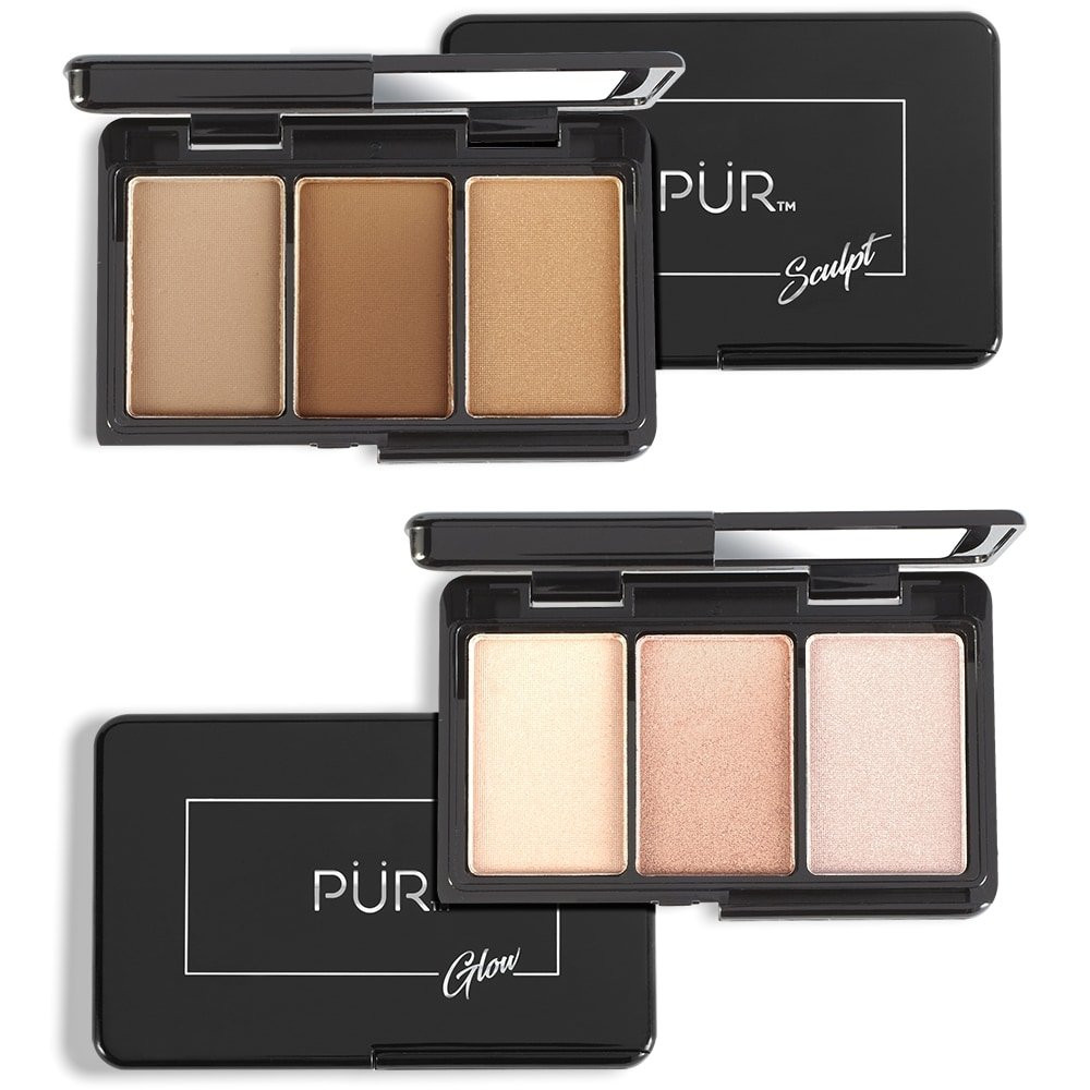 Quick Pro Portables Sculpt & Glow On-The-Go Contour and Highlight Palette Pair