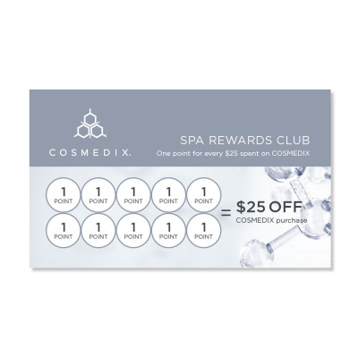 COSMEDIX Spa Loyalty Cards
