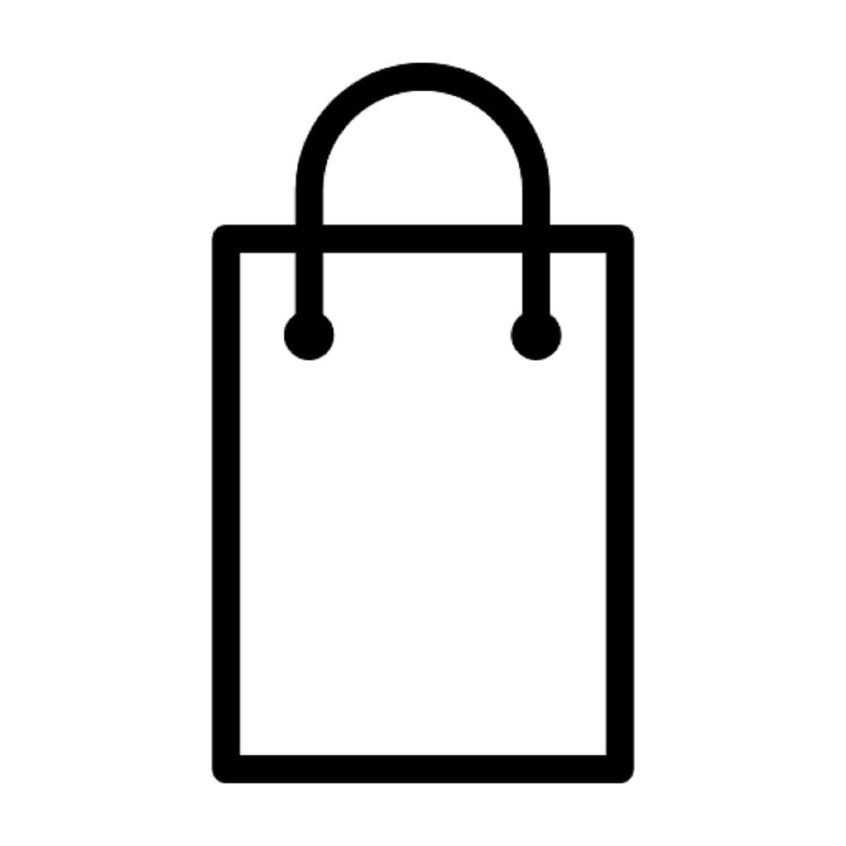 COSMEDIX White Retail Bag